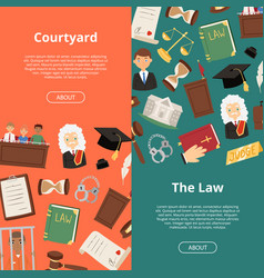 Legal justice lawyer business court judge banner vector