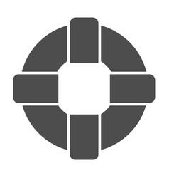 Lifebuoy solid icon lifesaver vector