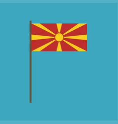 macedonia flag icon in flat design vector image