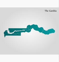 map gambia vector image
