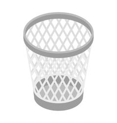 Mesh trash basket icon isometric 3d style vector