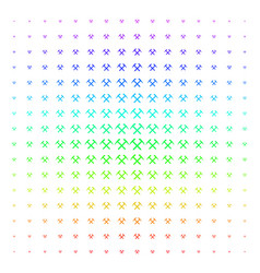 Mining hammers shape halftone spectral pattern vector