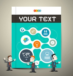 Modern Book or Brochure Cover Design - vector image