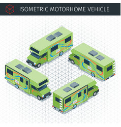 Modern motorhome car vector