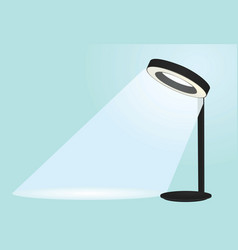 modern table lamp vector image