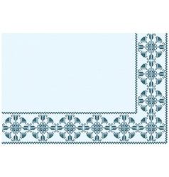 ornament blue pixel vector image