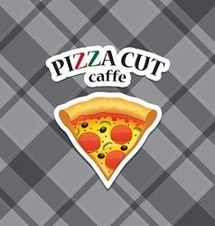 Piece of pizza realistic icon vector