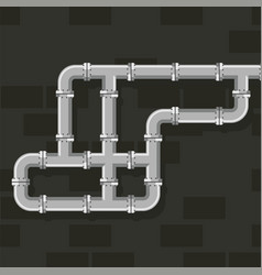 Pipe line for water gas and oil art tube vector