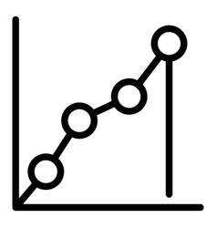 Progression data icon outline style vector