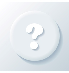 Question 3D Paper Icon vector