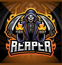 reaper esport mascot logo design vector image