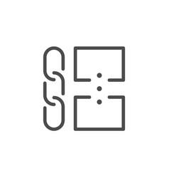 Relink websites line outline icon vector