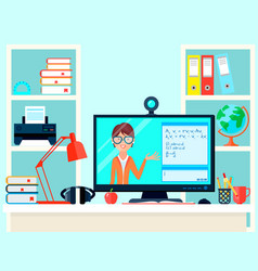 Remote learning teacher composition vector
