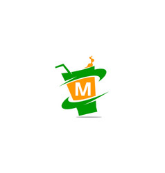 restaurant drink initial m vector image