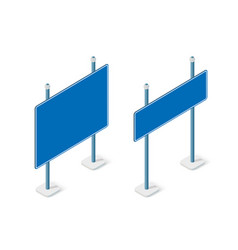 road signs isometric set street object for highway vector image