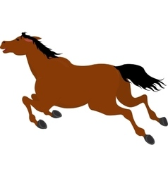 Running bay cartoon horse vector