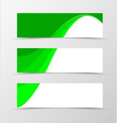 Set of banner spectrum design vector