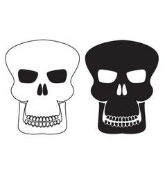 Skull icons vector