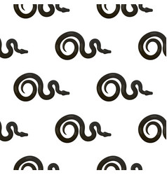 slither black snake seamless pattern vector image