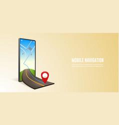 Smartphone map navigation vector