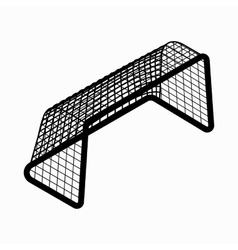 Soccer goal icon isometric 3d style vector