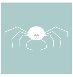 spider the white color icon vector image