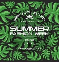 Summer fashion week flyer vector