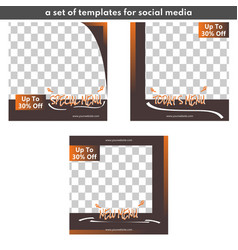 Template for sales promotion on social media vector