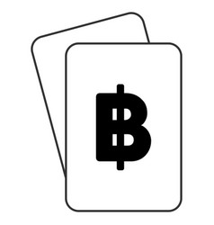 Thai baht playing cards vector