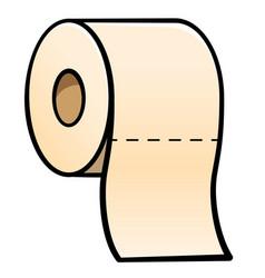 Toilet paper cartoon vector