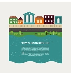 Town background template vector image