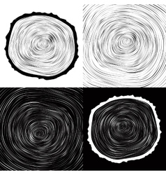 tree wood slice natural years line circle ring vector image