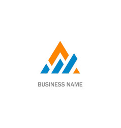 triangle shape progress business logo vector image