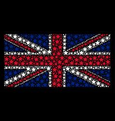 united kingdom flag pattern of fireworks star vector image