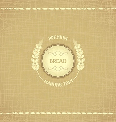 Vintage design emblem for baked goods vector
