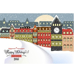 Winter Cityscape Christmas vector image