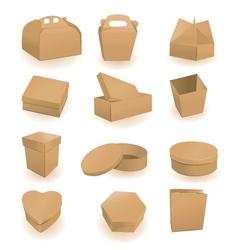 Cardboard packaging vector