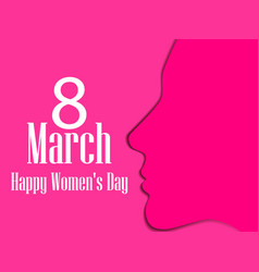 Happy womens day greeting card 8 march vector