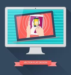 Internet user equipment computer tablet phone vector image