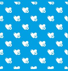 like pattern seamless blue vector image