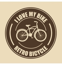 love bicycle lifestyle icon vector image