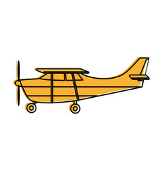 Propeller airplane icon image vector