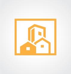 square building cityscape icon logo vector image vector image