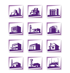 Different types of construction vector image vector image