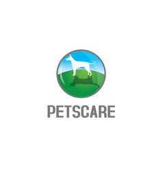 pets care logo vector image vector image