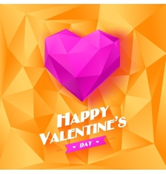 Romantic background for Valentines day vector image