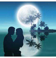 Sea at night vector image vector image