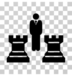 Strategy Chess Towers Icon vector image
