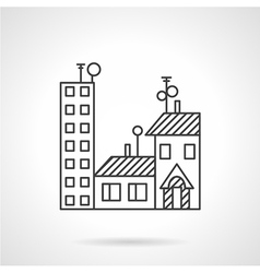 Apartments rent line icon vector image