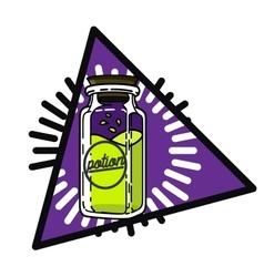 Color vintage magic esoteric emblem vector image